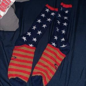 Super soft American flag socks